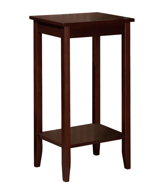 Dorel Home Products coffee brown Tall End Table