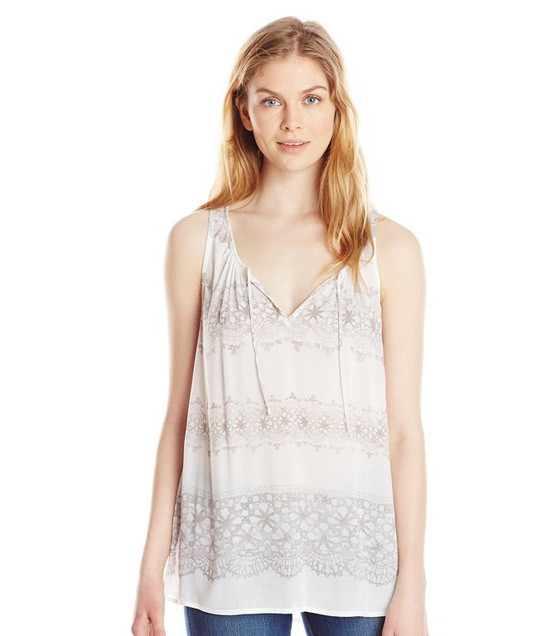DKNY Jeans Women's Printed Lace Tank